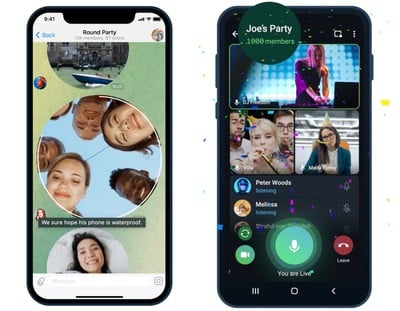 Bumper Telegram Update Enables Video Calls With Up to 1,000 Viewers – MacRumors